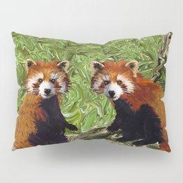 Frolicking Red Pandas Pillow Sham