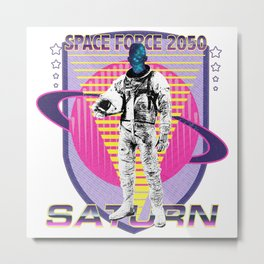 Space Force America Metal Print
