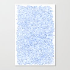 Water doodle Canvas Print