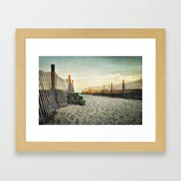 Beach Roses Framed Art Print