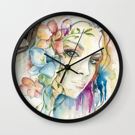 Boho Crystal Woman Wall Clock