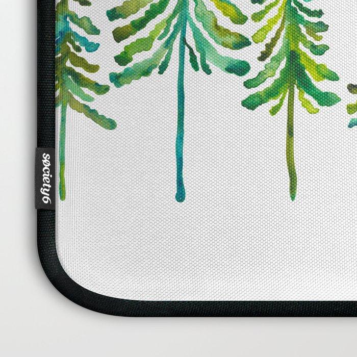 Pine Trees – Green Palette Laptop Sleeve