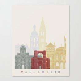 Valladolid skyline poster Canvas Print
