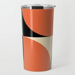 Mid Century Modern Geometric Abstract 235 Travel Mug