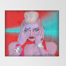 Cyber Punk Throw Blanket