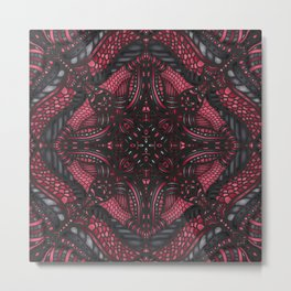 Abstract Goth Metal Print