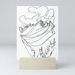 Valhalla Valley :: Single Line Mini Art Print