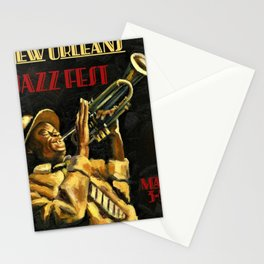 Vintage New Orleans Jazz Festival Advertising Wall Art Stationery Cards