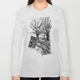 the road down from fairy hill Long Sleeve T-shirt