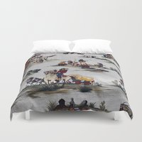 western Duvet Covers featuring Western  by Kim-maree Clark