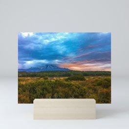 Sunset Mt. Ruapehu, New Zealand Mini Art Print