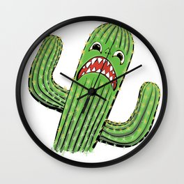 Scaredy Saguaro Variations Wall Clock