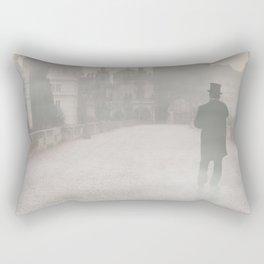 Prague in the morning fog Rectangular Pillow
