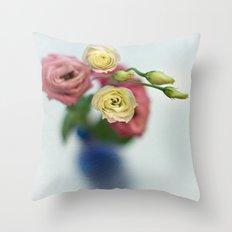 Vintage Irish Rose Throw Pillow