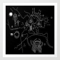 Twin Peaks Map of Black Lodge Art Print
