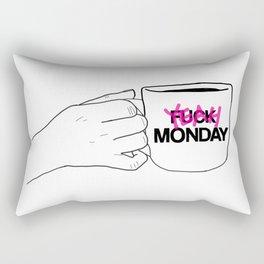 FUCK/ YEAH MONDAY Rectangular Pillow