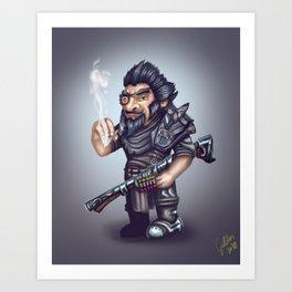 Gnome bounty hunter Art Print