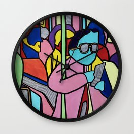 People on the bus Wall Clock