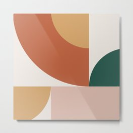 Abstract Geometric 12 Metal Print