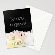 Develop negatives of positive. Stationery Cards