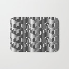 High grade metal texture- reflective mirrored surface Bath Mat