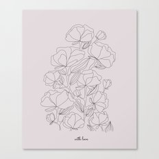 flowers, with love Canvas Print