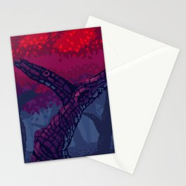 Pixel Red Forest Stationery Cards