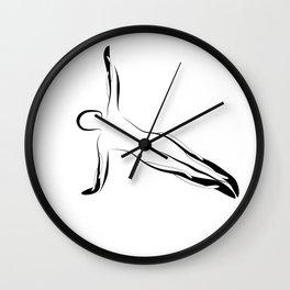 Pilates pose Wall Clock