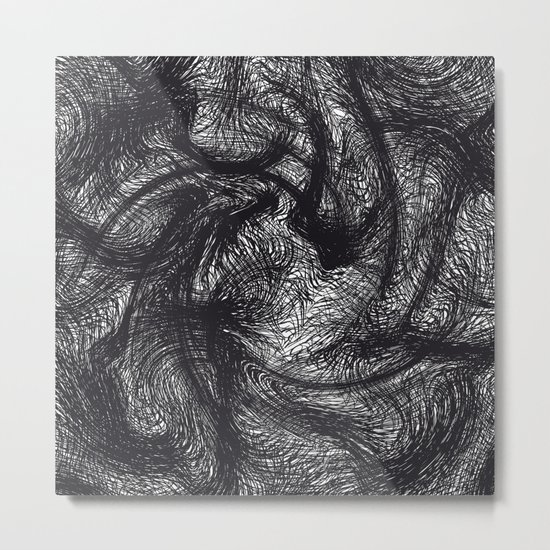 furry swirl Metal Print