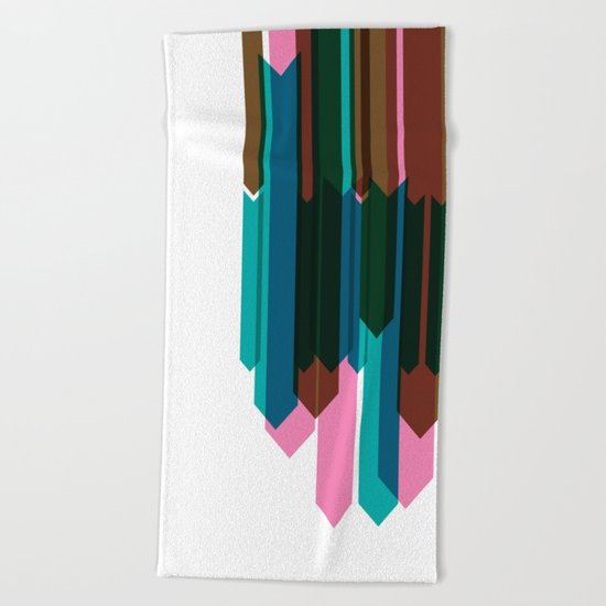 Arrow Collage Beach Towel