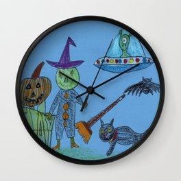 Alien Halloween Wall Clock
