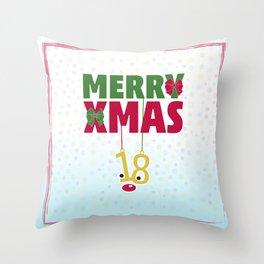 Merry Xmas 18 Throw Pillow