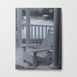 Winter Seaside 2 Metal Print
