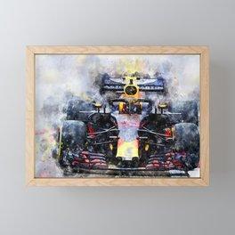 Max Verstappen No.33 Framed Mini Art Print
