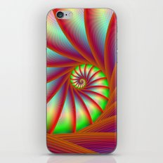 Staircase Spiral in Orange Blue and Green iPhone & iPod Skin