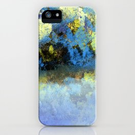 Bright Blue and Golden Pond iPhone Case