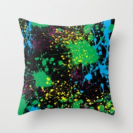 Make A Mess Throw Pillow