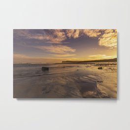 Marske Beach North Yorkshire Metal Print