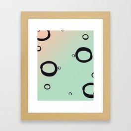 Geometric Art Print - Peach and Mint Framed Art Print