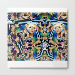 NIC COLLAGE Metal Print