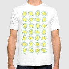 Seeds White Mens Fitted Tee SMALL