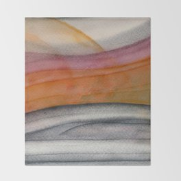 Abstract modern art 01 Throw Blanket