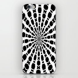 Black and White Bold Kaleidoscope iPhone Skin