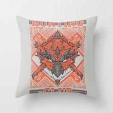 Hunting Club: Rathalos Throw Pillow