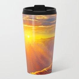 Sunlight waterfall Travel Mug