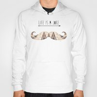 moustache Hoodies featuring moustache by Manoou