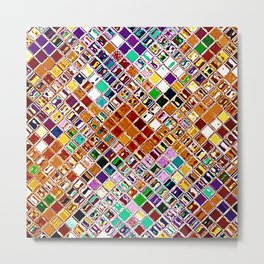 Re-Created  Mosaic No. NINE by Robert S. Lee Metal Print