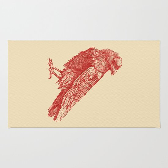 Red Raven  Rug