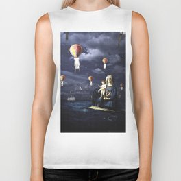Madonna with Child (on the high sea) Biker Tank