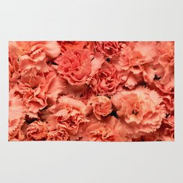 Coral Carnations Rug